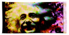 Albert Einstein - Why Is It That Nobody Understands Me - Yet Everybody Likes Me Beach Sheet