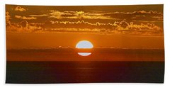 Aldinga Beach Sunset Beach Towel by Jocelyn Kahawai