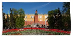 Alexander Garden And Arsenal Walls Beach Towel by Panoramic Images