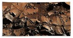 Alexander Hills Bedrock In Mars Beach Towel