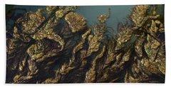 Beach Towel featuring the digital art Algae by Ron Harpham