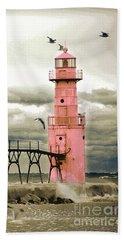 Algoma Pierhead Lighthouse Beach Sheet