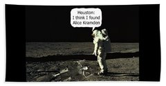 Alice Kramden On The Moon Beach Towel