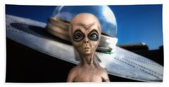 Alien Black Jack Beach Towel