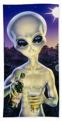 Alien Brew Beach Towel by Steve Read