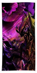 Beach Towel featuring the digital art Alien Floral Fantasy by David Lane