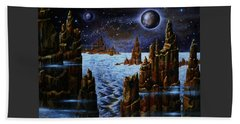 Ice And Snow  Planet  Beach Towel