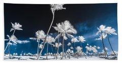 Alien Palm Trees Beach Towel