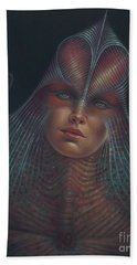 Alien Portrait Il Beach Towel