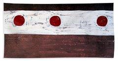 Alignment Original Painting Beach Sheet