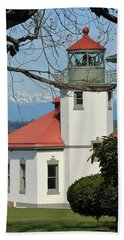 Alki Lighthouse Beach Towel by E Faithe Lester