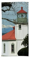 Alki Lighthouse II Beach Towel by E Faithe Lester