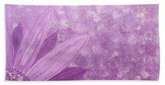 All Purple Flower Beach Towel