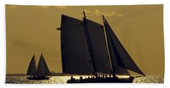 All Sails Sunset In Key West Beach Towel