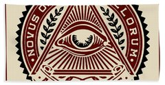 Beach Towel featuring the digital art All Seeing Eye by Vagabond Folk Art - Virginia Vivier