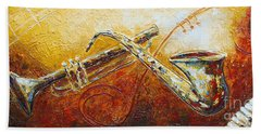 Beach Towel featuring the painting All That Jazz by Phyllis Howard