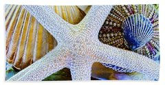 All The Colors Of The Sea Beach Towel by Colleen Kammerer