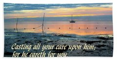 All Your Cares Beach Towel