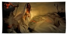 Beach Towel featuring the digital art Allegory Fantasy Art by Galen Valle