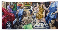 Alley Catz Beach Towel by Gail Butler