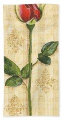 Allie's Rose Sonata 1 Beach Towel by Debbie DeWitt