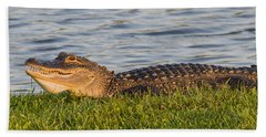 Alligator Smile Beach Towel