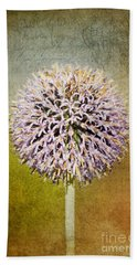 Allium Flower Beach Towel