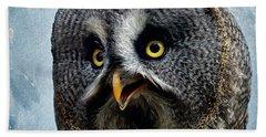 Allocco Della Lapponia - Tawny Owl Of Lapland Beach Sheet