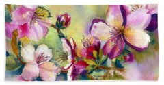 Almond Blossoms Beach Sheet