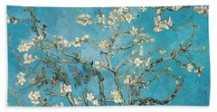 Almond Branches In Bloom Beach Towel