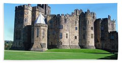 Beach Towel featuring the photograph Alnwick Castle Castle Alnwick Northumberland by Paul Fearn