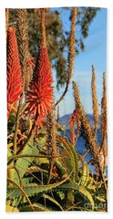 Aloe Vera Bloom Beach Towel by Mariola Bitner