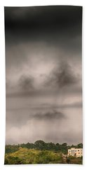Alone In The Storm Beach Towel by Gary Slawsky