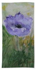 Alone Beach Towel by Marna Edwards Flavell
