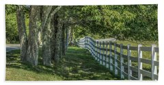 Beach Towel featuring the photograph Along A Country Road by Jane Luxton