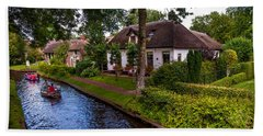 Along The Canal. Giethoorn. Netherland Beach Sheet