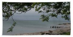 Beach Sheet featuring the photograph Along The Shore by Kay Novy