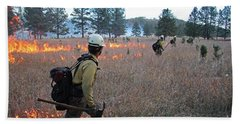Alpine Hotshots Ignite Norbeck Prescribed Fire Beach Sheet