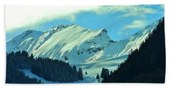 Alps Green Profile Beach Towel