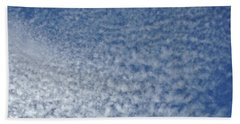 Beach Towel featuring the photograph Altocumulus Clouds by Jason Williamson
