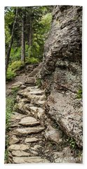 Alum Cave Trail Beach Towel by Debbie Green