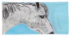 Beach Towel featuring the painting Alvaro Stallion by Jeanne Fischer
