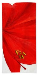 Amaryllis Flower Beach Towel
