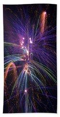 Amazing Beautiful Fireworks Beach Towel