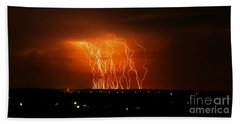 Amazing Lightning Cluster Beach Towel