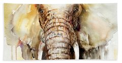 Amber Elephant Beach Towel