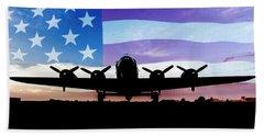 American B-17 Flying Fortress Beach Towel