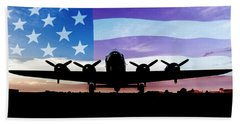 American B-17 Flying Fortress Beach Towel