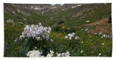 American Basin Columbines Beach Sheet by Susan Rovira