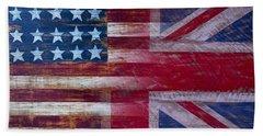 American British Flag 2 Beach Towel
